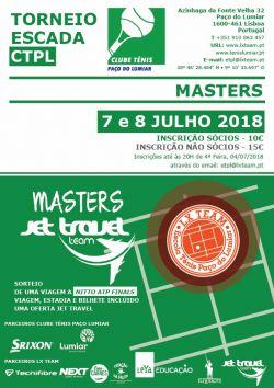 CARTAZ MASTERS JET TRAVEL TORNEIO ESCADA CTPL 2017 2018